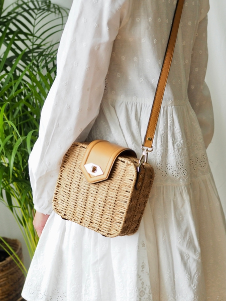 Bilde av Pourchet - Paille crossbody bag - Natur