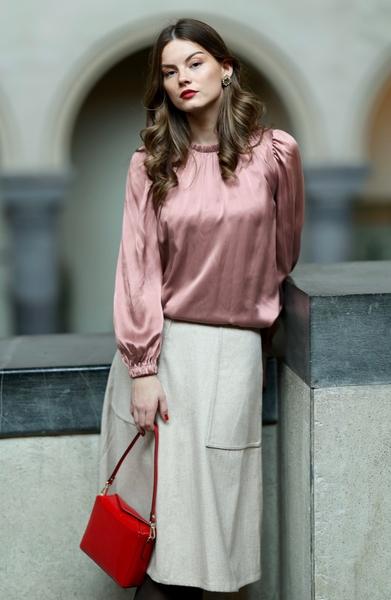 Bilde av Cathrine Hammel - Tweed Midi Skirt - Almond Milk