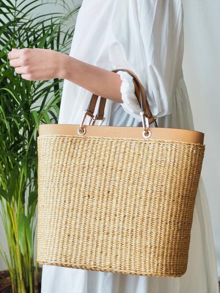 Bilde av Pourchet - Paille Hand bag - Natur