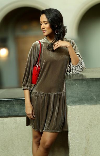 Bilde av Part Two - Lenia Dress - Walnut