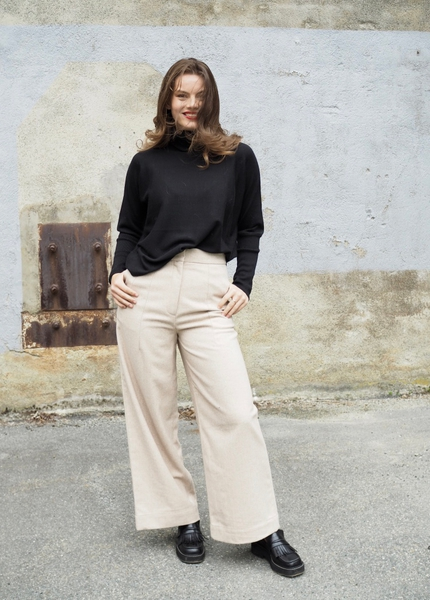 Bilde av Cathrine Hammel - Tweed Wide Leg Pants - Almond