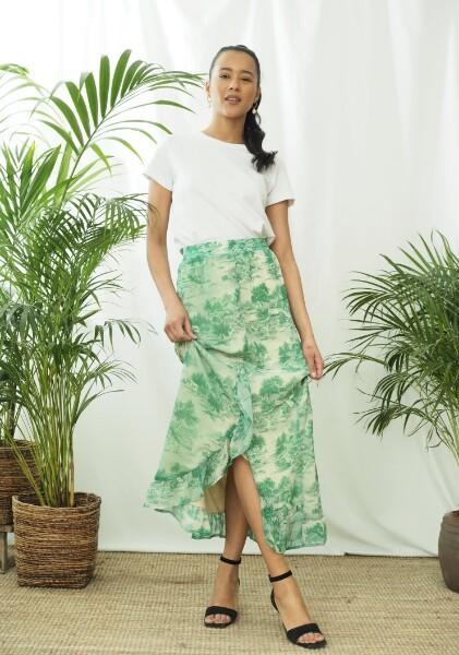 Bilde av Coster - Skirt in Wallpaper print