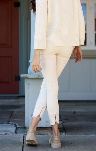 Bilde av Mapp - Bow Twill Trousers - Broken White