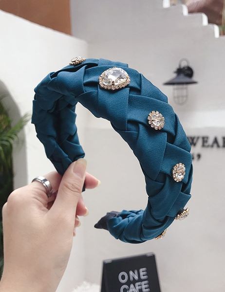 Bilde av Nectar - Braided Headband Diamonds - Petrol