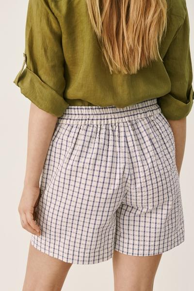 Bilde av Part Two - Iwona Shorts - GreyBlue Check
