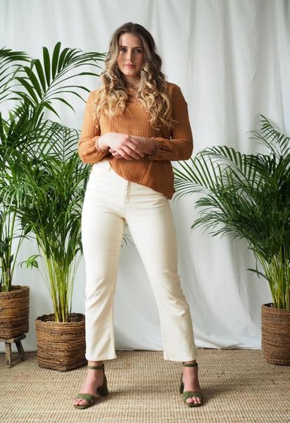 Bilde av Basic Apparel - Ellen Jeans - Birch