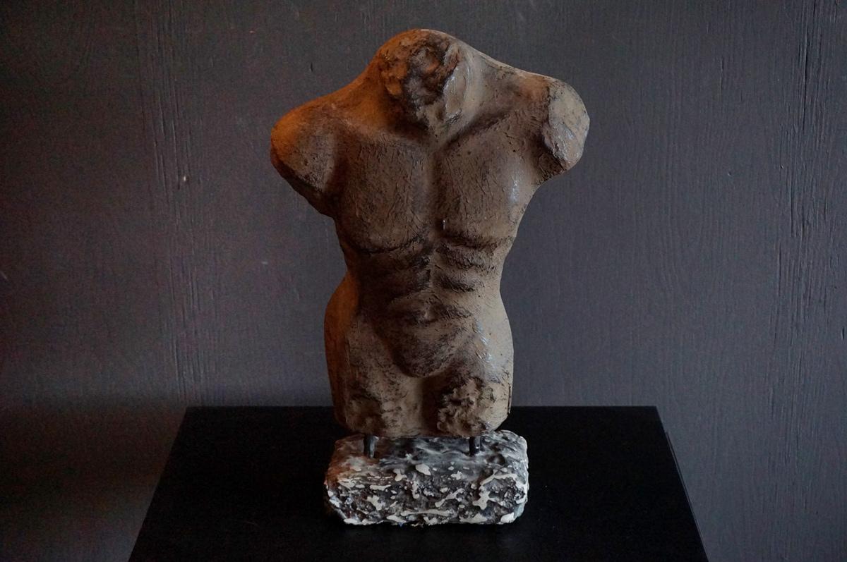 Torso, 50 cm, brun