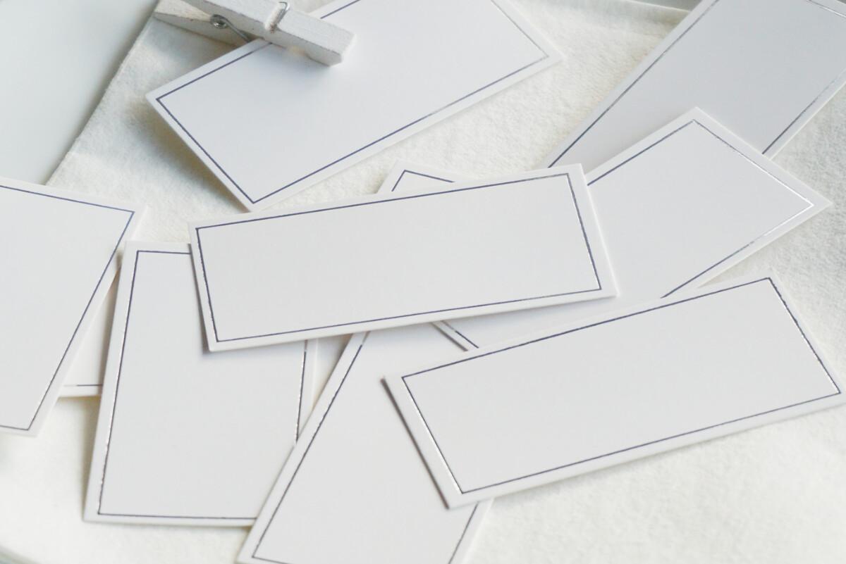 Bordkort 10 stk, sølv