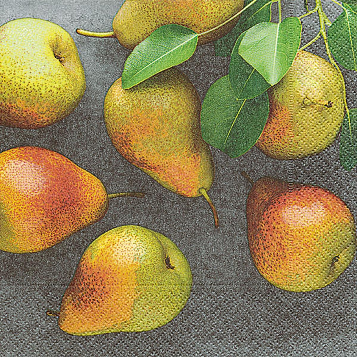 Servietter, Fresh pears, vanlig 33x33 cm
