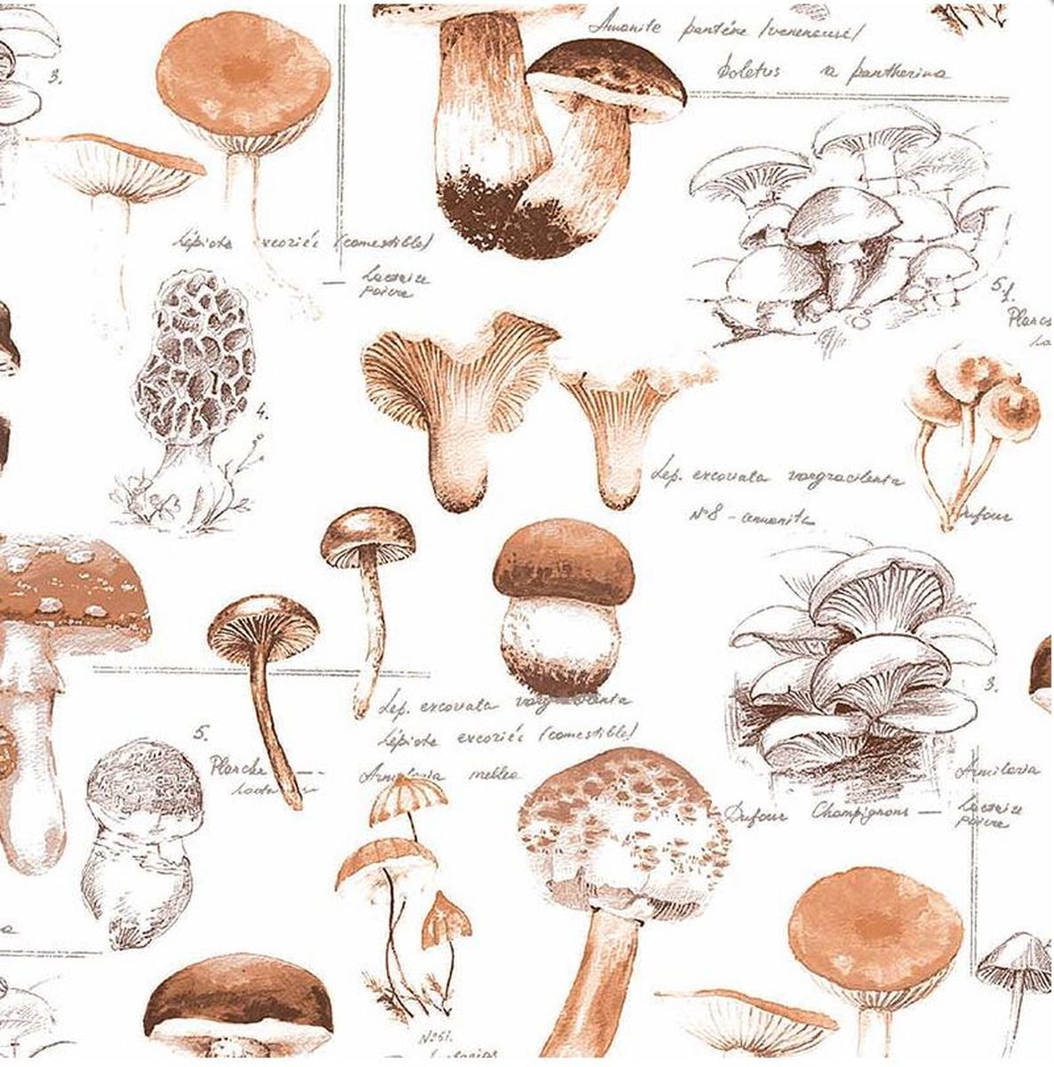 Servietter, Mushrooms, vanlig 33x33 cm
