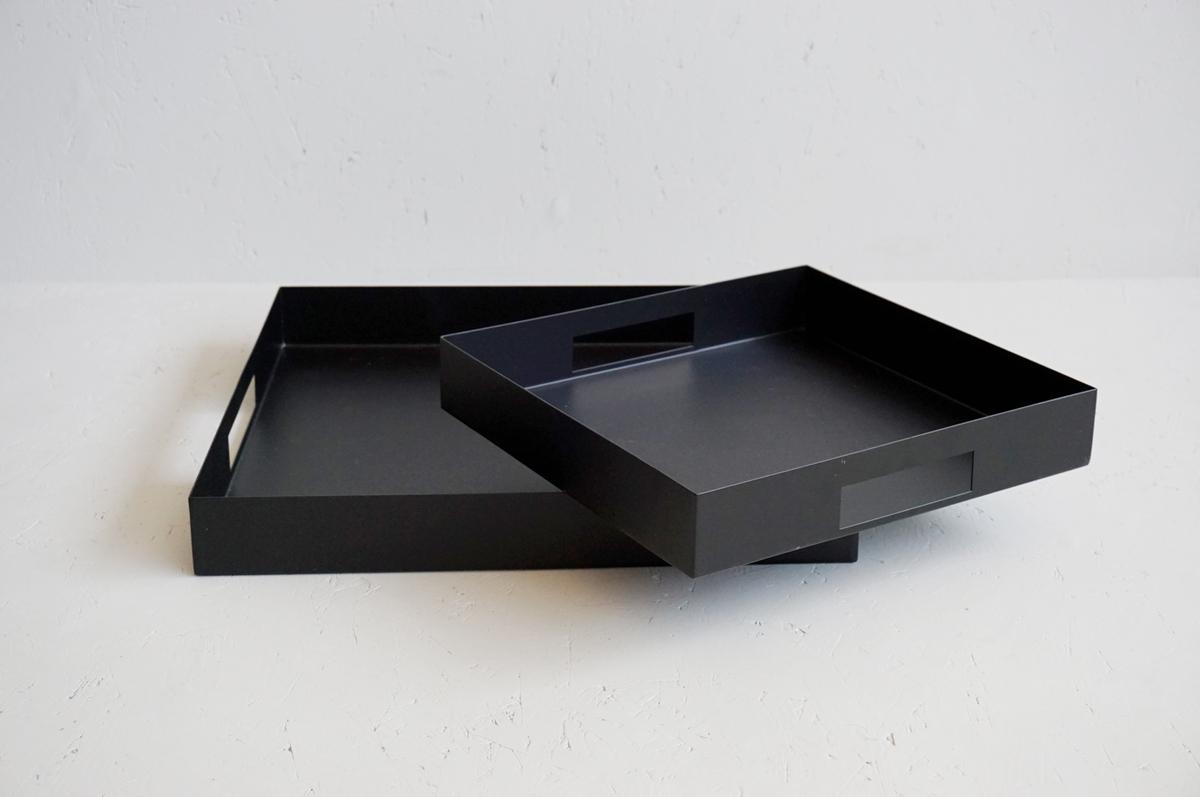 Metallfat, sort, 2 str