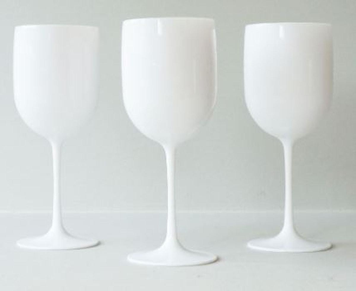 Vinglass, hvitt, 21 cm