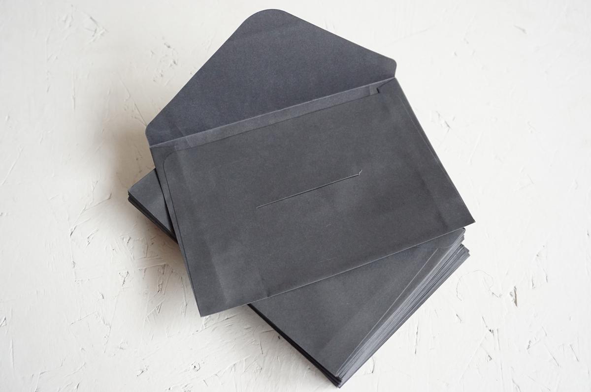 Konvolutt C6, sort, uten lim