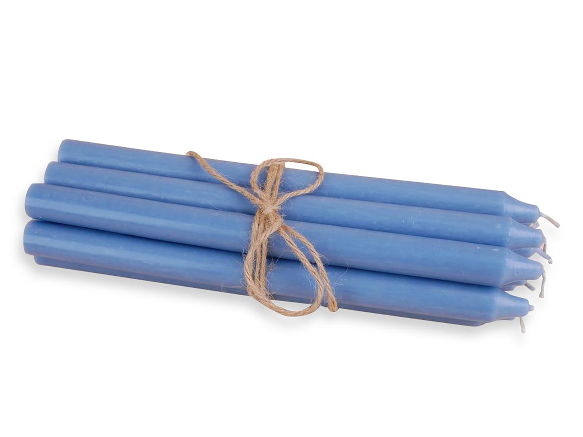 Rustikk stearinlys, 30 cm, Aqua blå