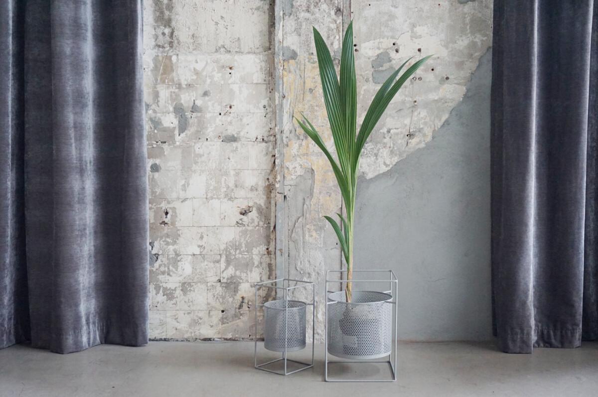 Blomsterpotter, grå, sett av 2
