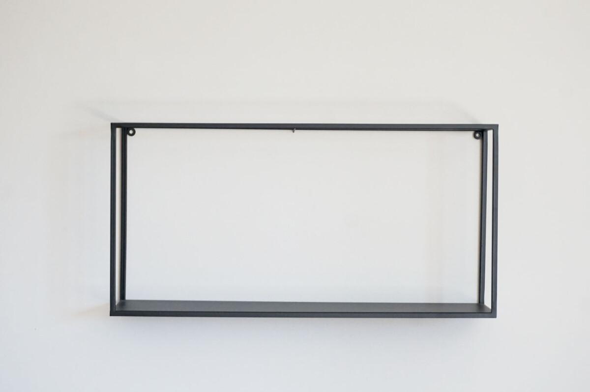 Metallhylle, sort, sett av 2
