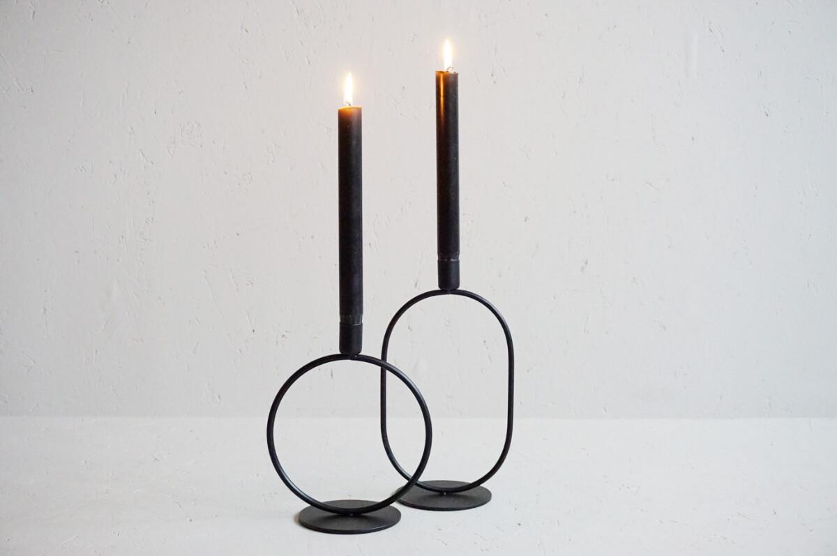 Lysestake, metall, 25,5 cm