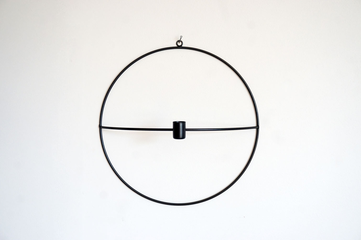 Lysestake, vegghengt, 30 cm
