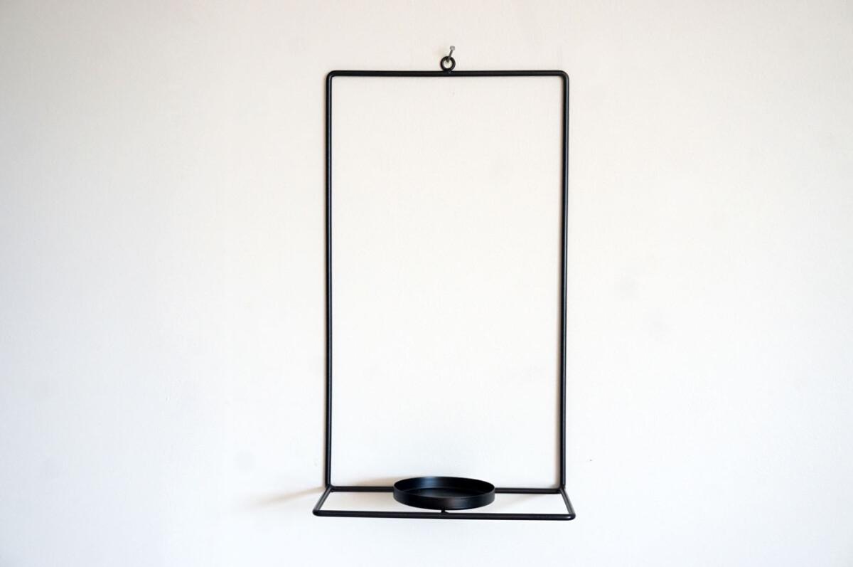 Lysestake, vegghengt, 35 cm