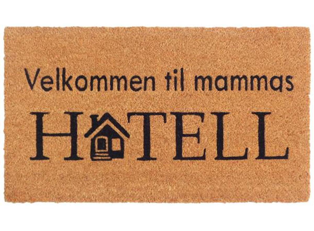 Dørmatte Mammas Hotell 40x70cm