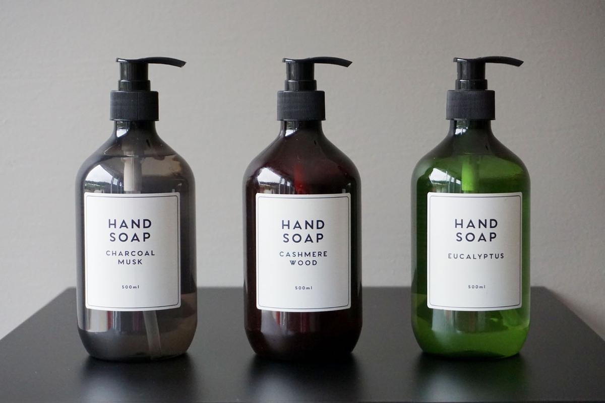 Håndsåpe, 500 ml, 3 typer