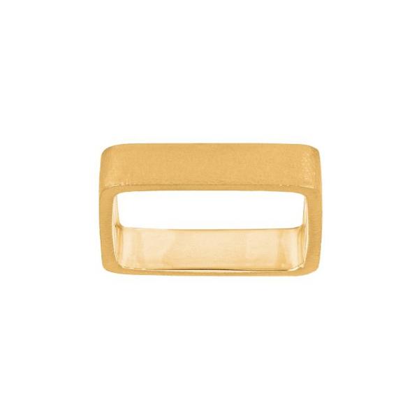 SHAPE Sølv 925 forgylt ring Kvadrat, str 58